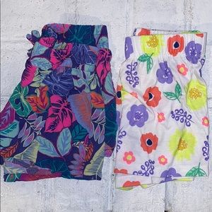 2 Pairs of Girls Floral Shorts